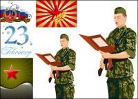 Estrela de cinco pontas e os militares - Vector