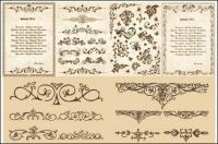 ヨーロッパの古典的なパターン ベクトル材料