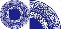 ベクトルの青と白の磁器
