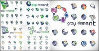 logo de vecteur de texture coloré