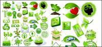 Matériau de vecteur élément vert