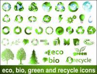 Vecteur de signe de matériaux recyclables