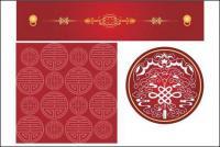 Vector de patrón de estilo chino