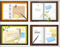 紙のノートのベクトル