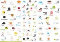 Uma variedade de ícones bonitos - vector material