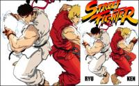 Fichier de source de vecteur Street Fighter