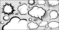Мультфильм стиль грибовидное облако слой 02 - вектор