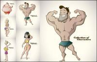 Personaje de dibujos animados - Vector