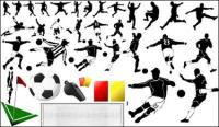 Elementos do vetor do tema do futebol