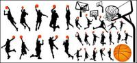 Material de vector de baloncesto y tablero en perfil