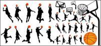 Basketball und Rückwand Vektor-Material im Profil