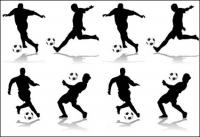 4 figurines de football silhouette vecteur