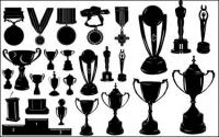 Médailles et trophées Silhouette vecteur