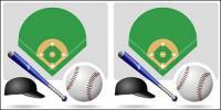 Équipement de baseball de vecteur
