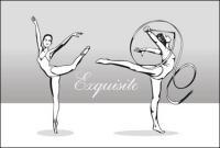 Vecteur gymnastique