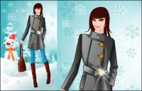 Inverno vector mulher 5