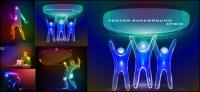작업 빛 벡터의 재료 구성