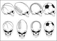 Crânio de elementos do movimento
