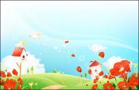 Paisaje de flor de sueño