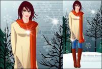 Mulheres de Inverno vector 8