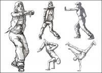 Matériel de vecteur de figures dansant
