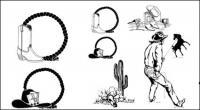 Matériau de vecteur noir et blanc Wrangler