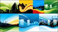 Tendencia dinámica de la ilustración de la ciudad