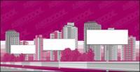 도시 건축 빈 빌보드 벡터 재료