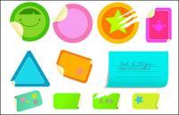 Material decorativo vector Postado notas