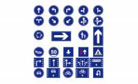 Вектор дорожных знаков маркировки материалов