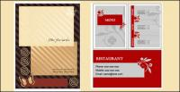 3 sets of menus, such as business card template vector material