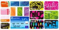 4 conjuntos de material de vetor de modelo de cartão de visita