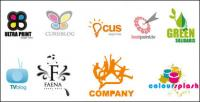 Variété de matériel de modèle pour le logo vectoriel
