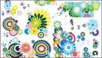 Тенденция нескольких милые цветы элемента вектора материал