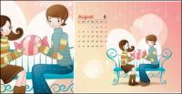 Календарь векторного материала