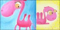 Розовый верблюда векторного материала