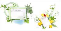 Зеленая книга с материалами вектор шаблон