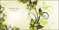 美しい緑ファッション パターン ベクトル材料