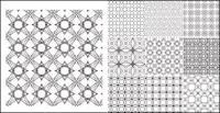 Material de vector continental antecedentes modelo mosaico