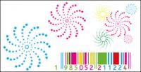 Rotación de estrellas de material de barra de vectores de color