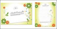 Flores encantadoras, papelería y decorativo de cartón material de vectores