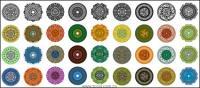 さまざまなクラシックの要素を円形パターン ベクトル材料 - 1