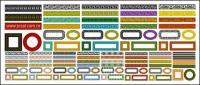 Variedad de encaje material clásica serie vector-2