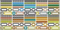 Variedad de encaje material clásica serie-1