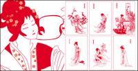 Un material de vector de sueño de mansiones rojas