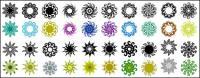 Variedad de elementos clásicos en un patrón circular vector material-3