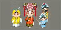 Vector de personajes de dibujos animados ópera (2)