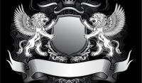 Leones escudo de vectores-1