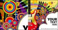 Guitarra, estrellas de vectores de material