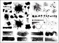 Material de vetor de efeito de jato de tinta